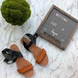 Adorable Brown & Black Sandals